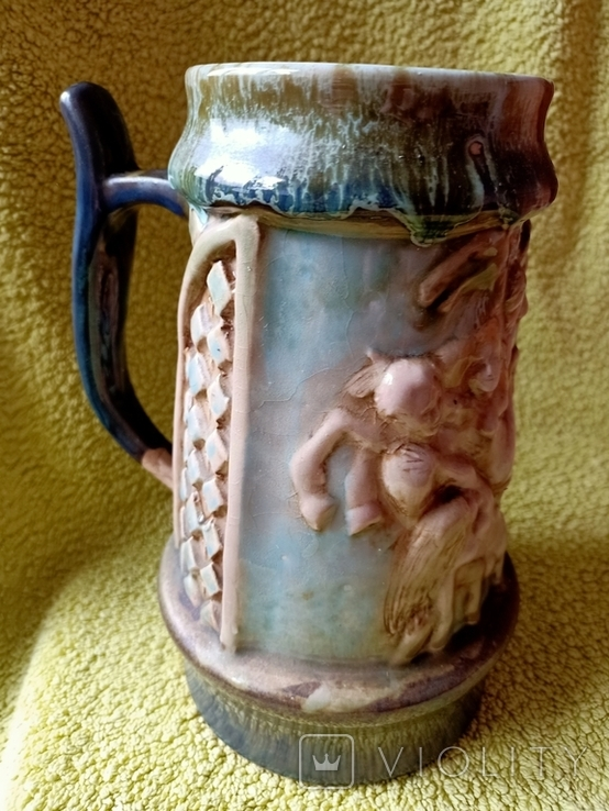 Кружка пивная львовская керамика ЛКСФ, авторская - Пінас, 1983, фото №2