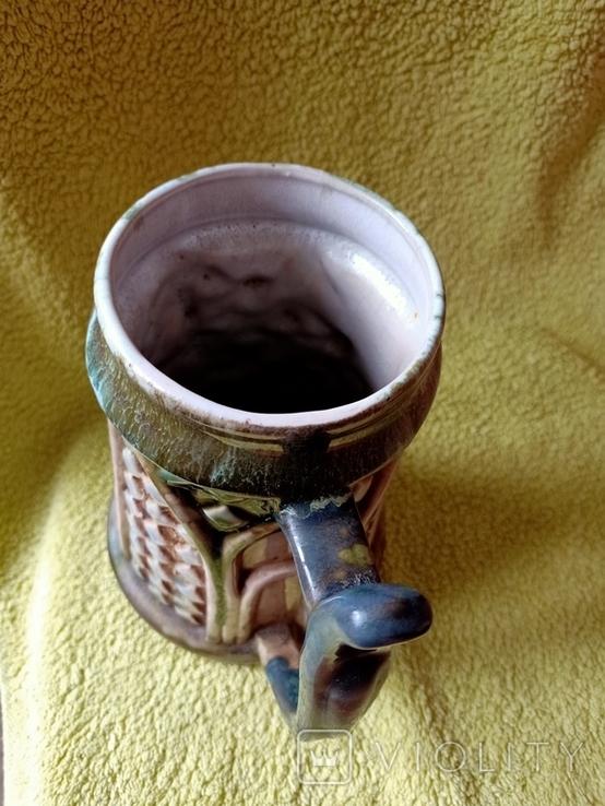 Кружка пивная львовская керамика ЛКСФ, авторская - Пінас, 1983, фото №7
