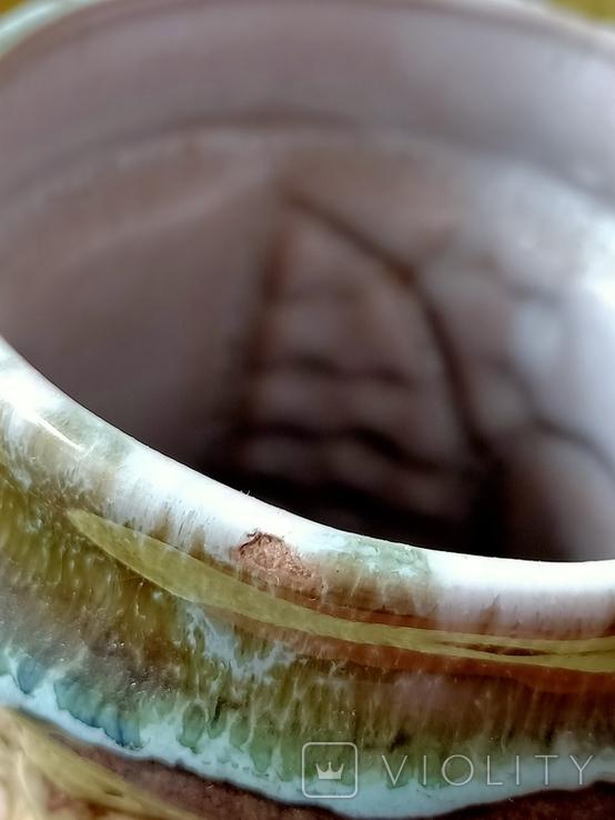 Кружка пивная львовская керамика ЛКСФ, авторская - Пінас, 1983, фото №8
