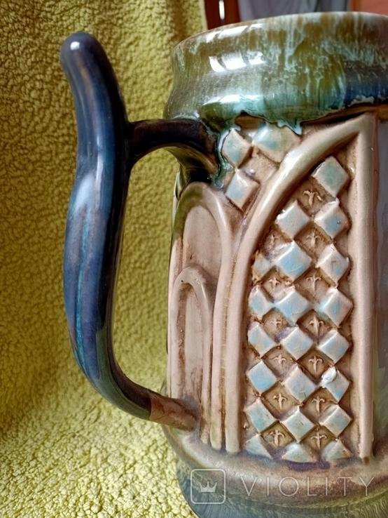 Кружка пивная львовская керамика ЛКСФ, авторская - Пінас, 1983, фото №12