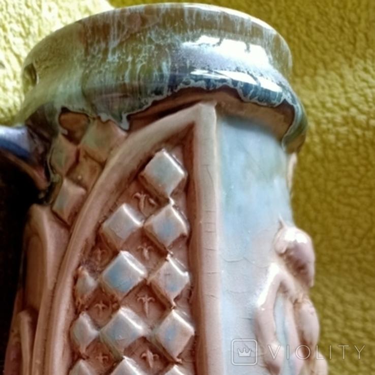 Кружка пивная львовская керамика ЛКСФ, авторская - Пінас, 1983, фото №13