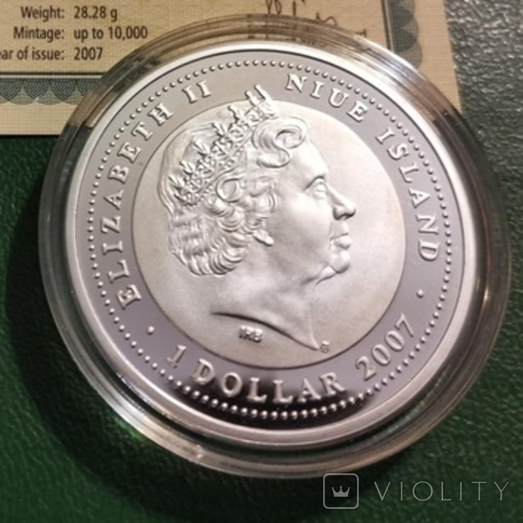 1 доллар Ніуе 2007 р., фото №3