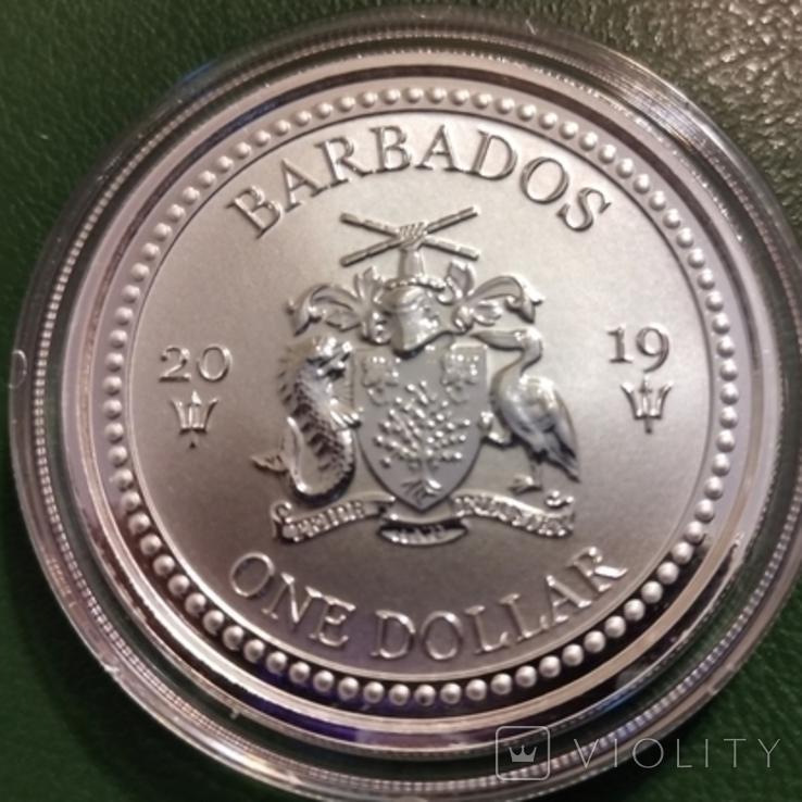 1 доллар 2019 р.Барбадос, фото №3