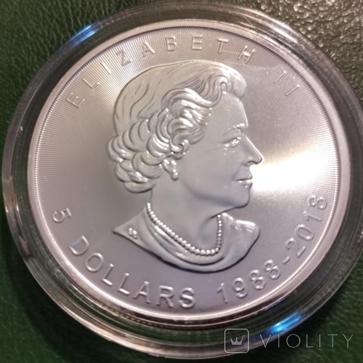 5 доларів 2018 р.Канада, фото №3