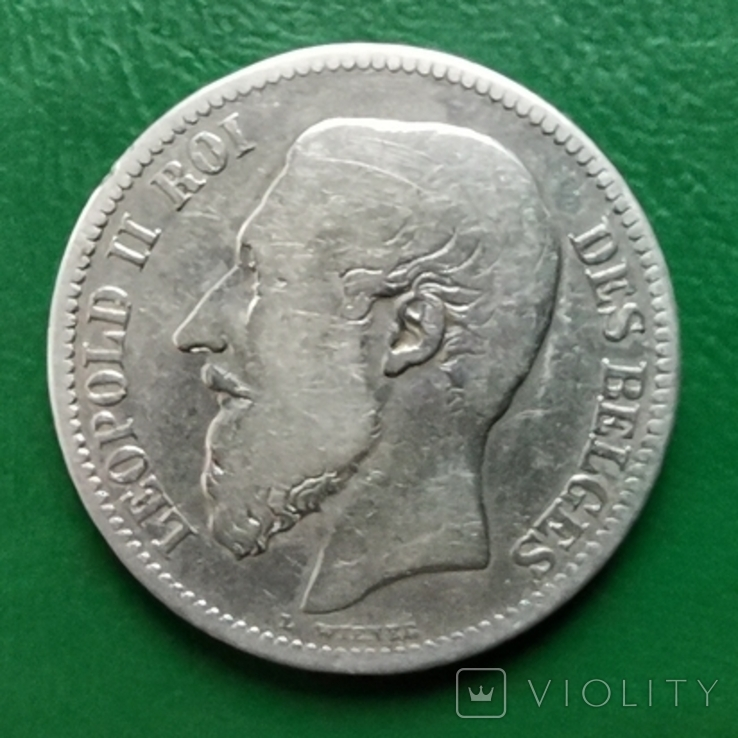 2 франка 1866г.Бельгия, фото №3