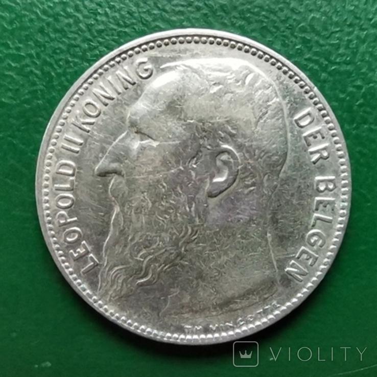 1 франк 1909г.Бельгия DER, фото №2