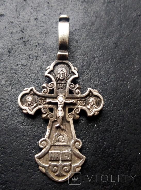 Старый серебренный крестик, фото №7