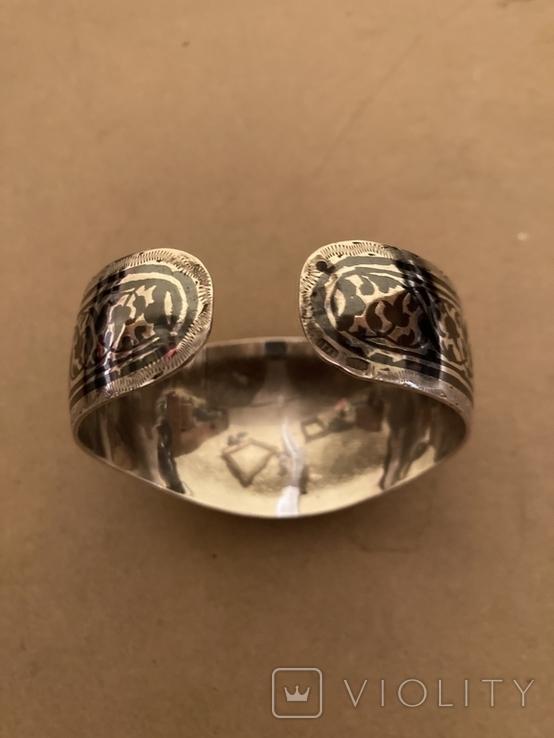 Браслет Кубачи серебро 37.7 гр, фото №4