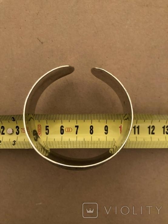 Браслет Кубачи серебро 37.7 гр, фото №6
