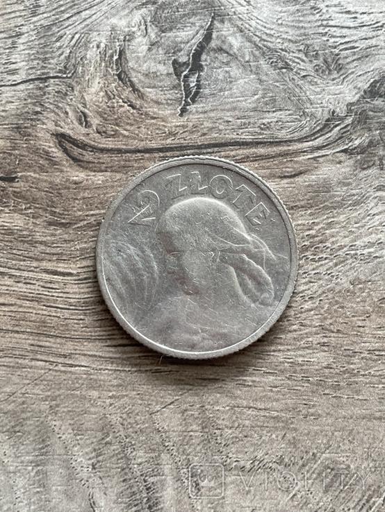 2 злотых 1924 года Жница Польша серебро, фото №2