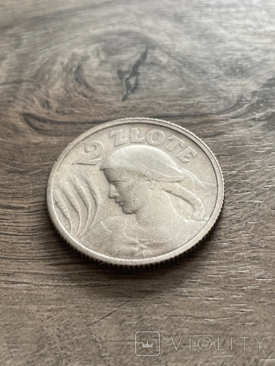 2 злотых 1924 года Жница Польша серебро, фото №3