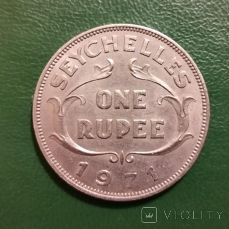 1 рупія 1971 р.Сейшельські острови, фото №3
