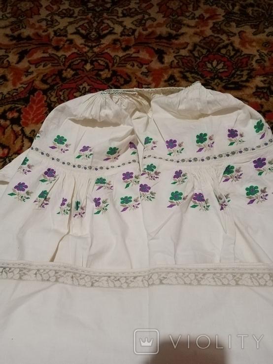 Сорочка калінкорова вишита хрестиком, фото №4
