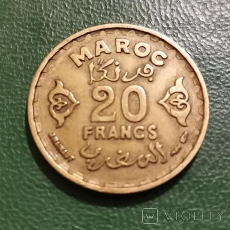 20 франков 1952 г. Марокко, фото №2