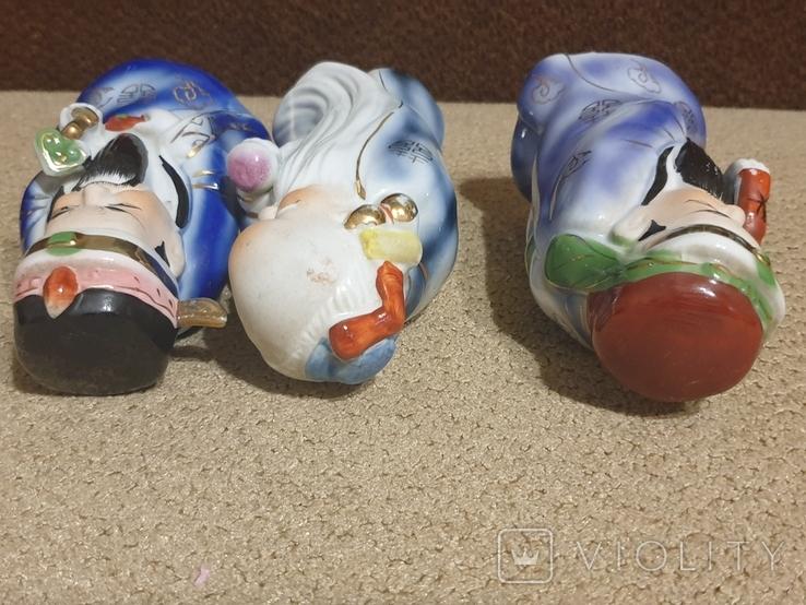 Фарфоровые статуэтки Три мудреца Сан-Синь, фото №7