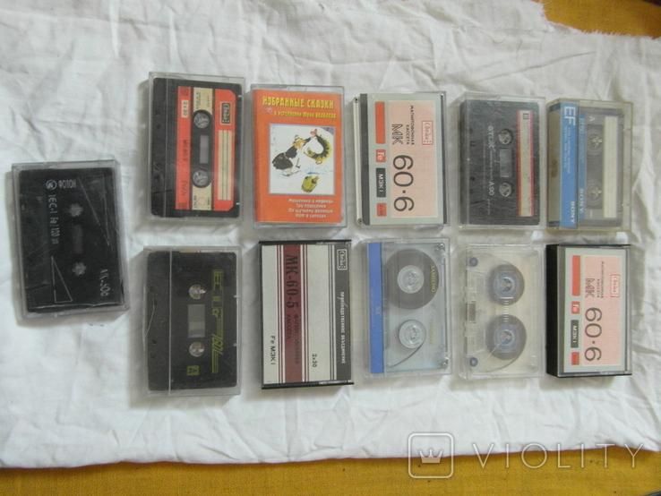 Магнитофонные кассеты.Разных брендов.Цена за 11 штук., фото №2