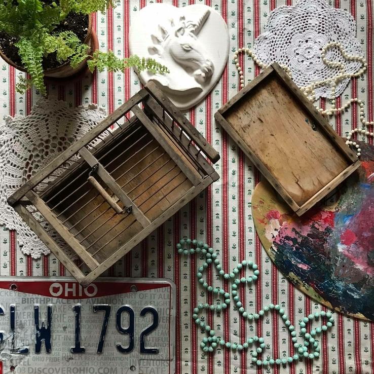 Клетка переноска дерево деревянная ретро винтаж декор, фото №3