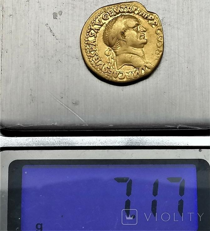Ауреус Веспасіана, Римська імперія, 69-79 рр., золото, фото №6