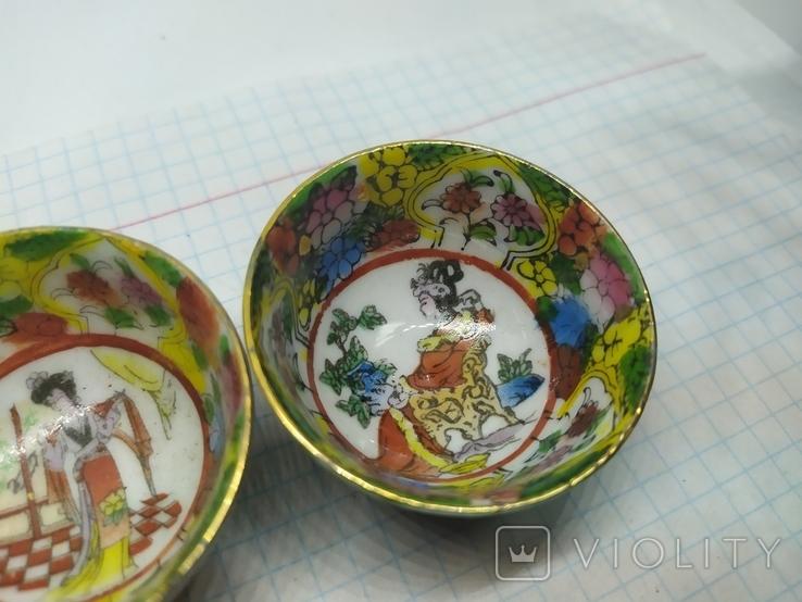 2 декоративные тарелки из фарфора. Диаметр 47мм, фото №3