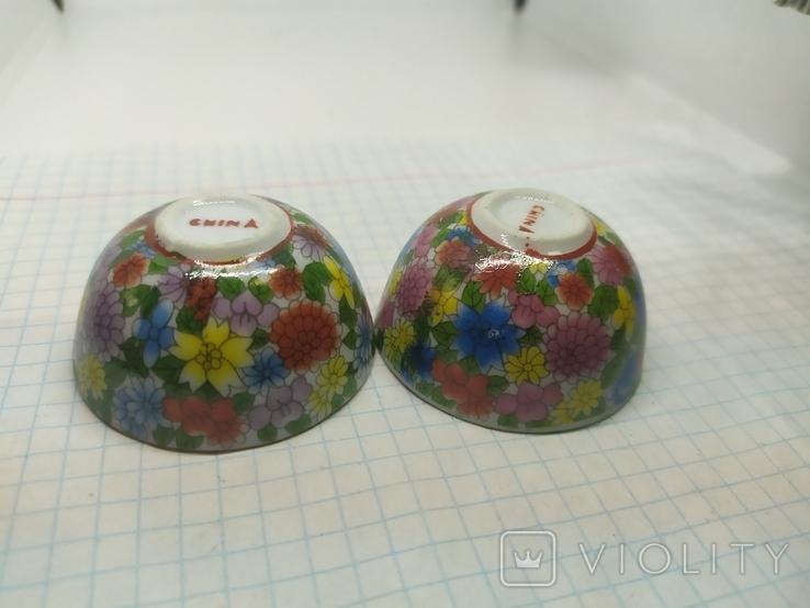 2 декоративные тарелки из фарфора. Диаметр 47мм, фото №6