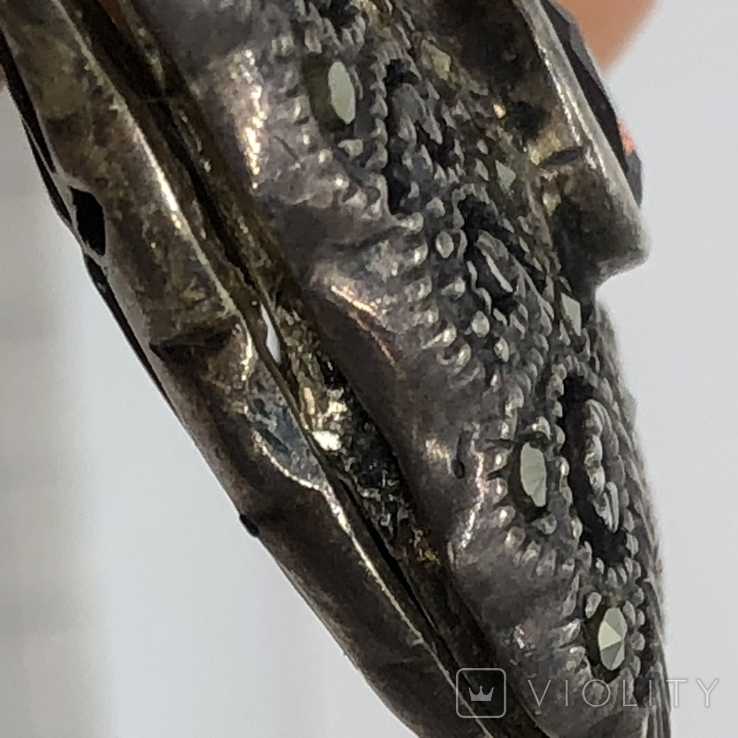 Подвес мотылёк бабочка серебро с камнем, фото №8