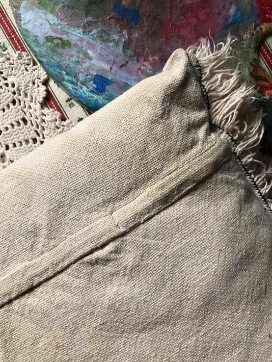 Подушка декоративная вышивка бахрома пух перо, фото №7