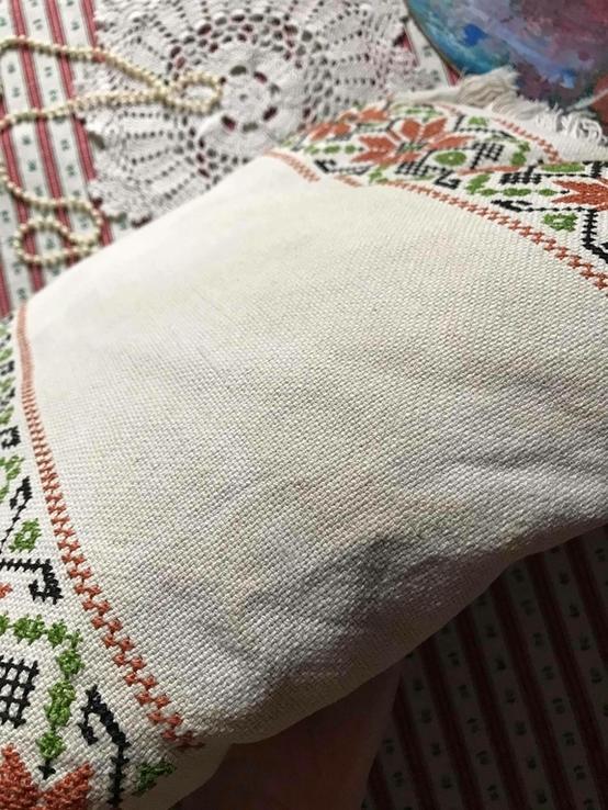 Подушка декоративная вышивка бахрома пух перо, фото №10
