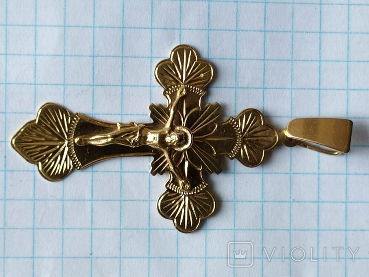 Крест золото, фото №3