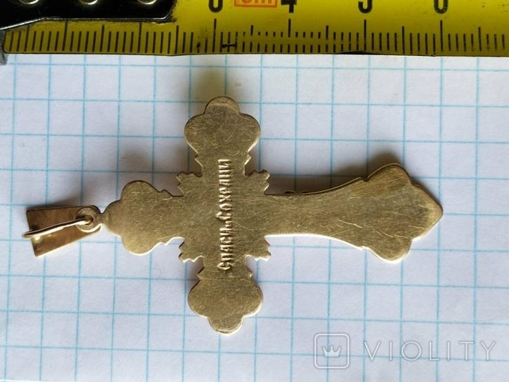 Крест золото, фото №6