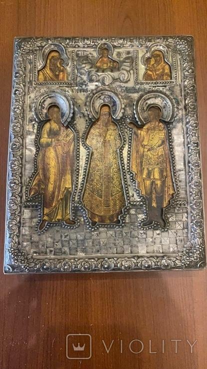 Икона святых: Святой Матфей, Святой Пётр, Святой Георгий, 1753 год, Москва, фото №2