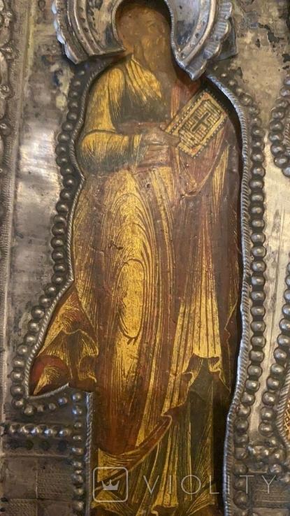 Икона святых: Святой Матфей, Святой Пётр, Святой Георгий, 1753 год, Москва, фото №6