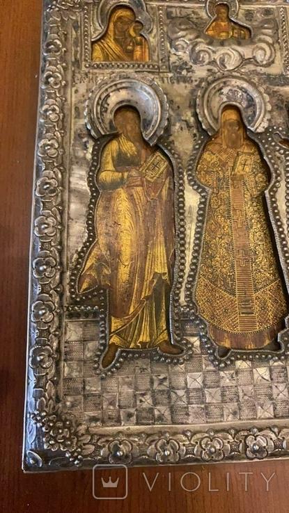 Икона святых: Святой Матфей, Святой Пётр, Святой Георгий, 1753 год, Москва, фото №7