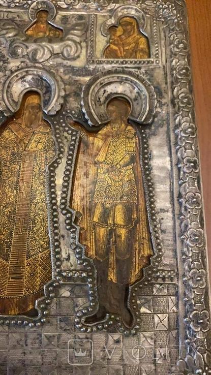 Икона святых: Святой Матфей, Святой Пётр, Святой Георгий, 1753 год, Москва, фото №8