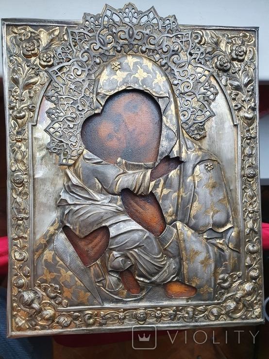 Богородица 84 пр. Ковка, чернь, позолота. Аналой., фото №2