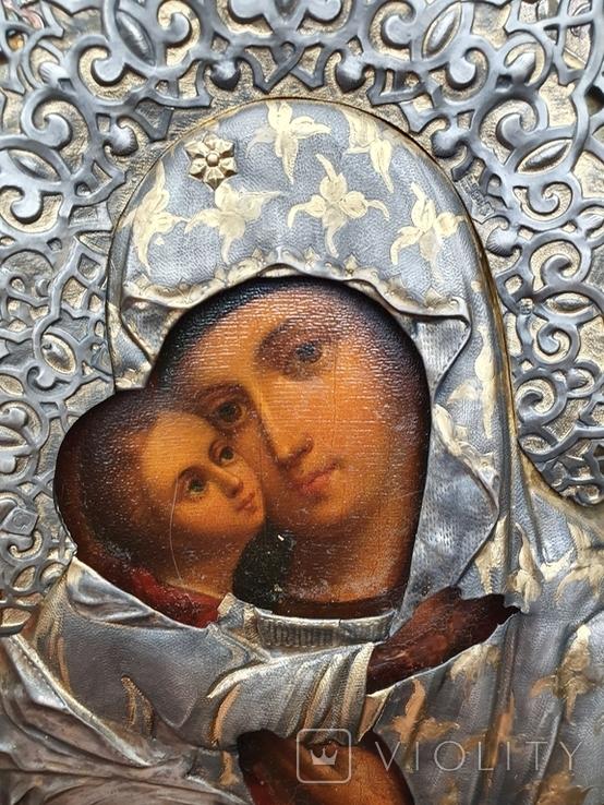 Богородица 84 пр. Ковка, чернь, позолота. Аналой., фото №3
