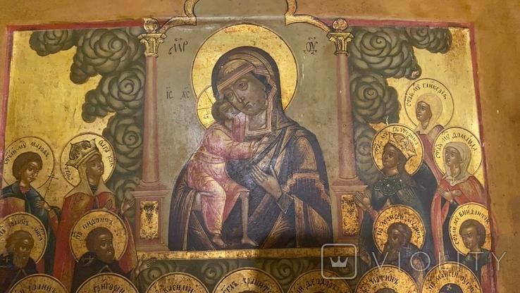 Икона Богоматери Владимирской, Ярославль, Начало 19 века, фото №11