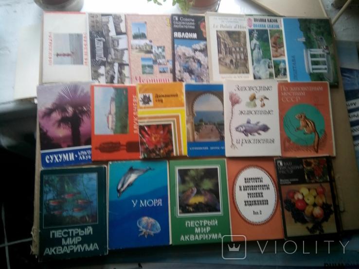 Наборы открыток по разным тематикам (155шт) + бонус, фото №7