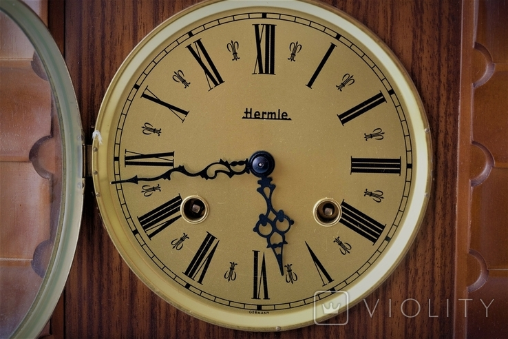 Каминные часы боем с ключом HERMLE, фото №4