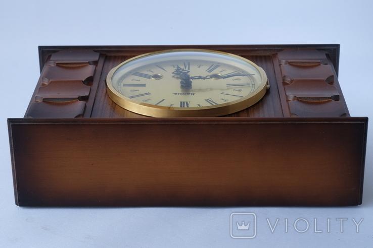 Каминные часы боем с ключом HERMLE, фото №7