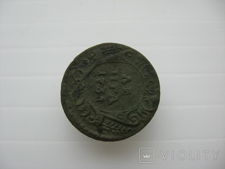 Деньга 1731 год,одна черта, фото №5