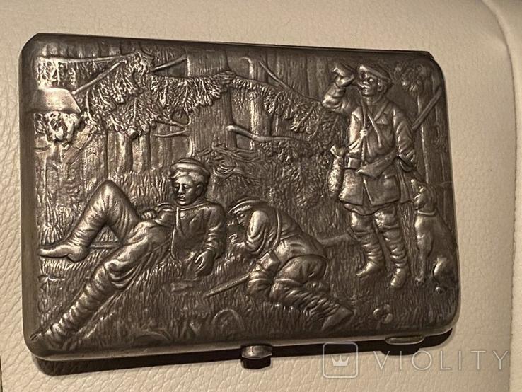 Портсигар с охотничьими сценами, фото №3