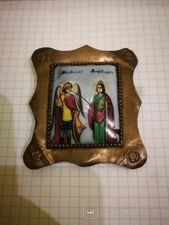 Икона миниатюрная, емаль, за реставрации, фото №4