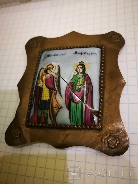 Икона миниатюрная, емаль, за реставрации, фото №5