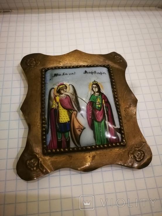 Икона миниатюрная, емаль, за реставрации, фото №6