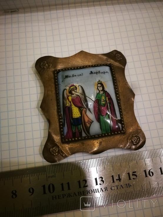 Икона миниатюрная, емаль, за реставрации, фото №9