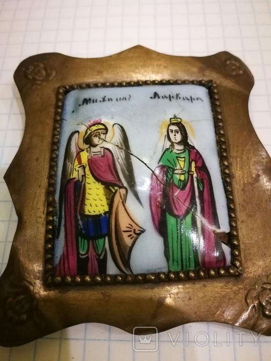 Икона миниатюрная, емаль, за реставрации, фото №11