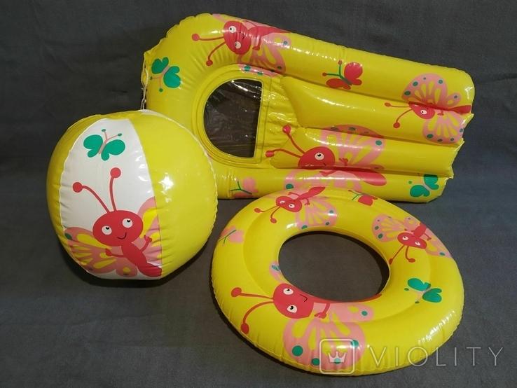 Надувной набор новый Мяч Матрас, фото №2