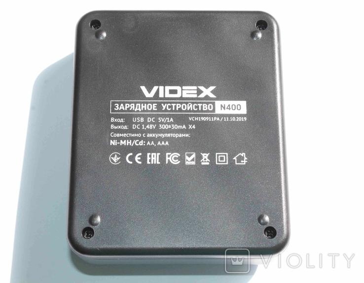 Зарядное устройство Videx для зарядки AAA AA, фото №6