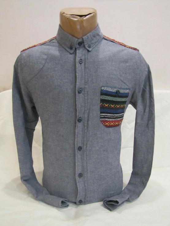 Модная мужская рубашка Bellfield оригинал в отличном состоянии, фото №2