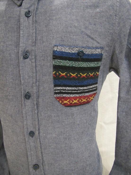 Модная мужская рубашка Bellfield оригинал в отличном состоянии, фото №3